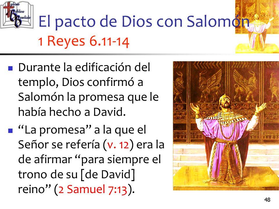 El pacto de Dios con Salomón 1 Reyes 6.11-14