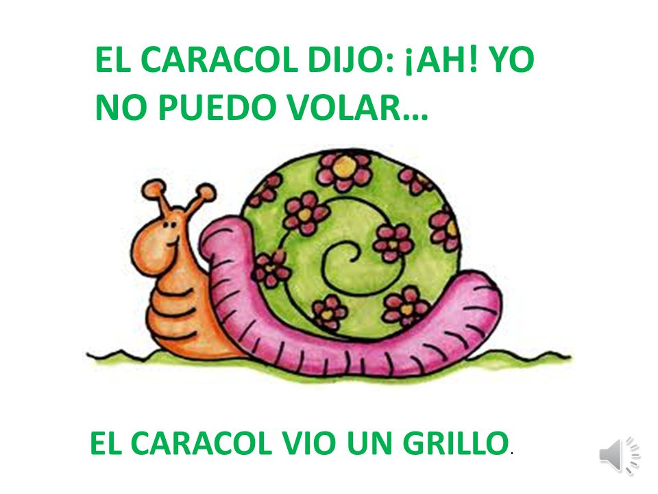 EL CARACOL DIJO: ¡AH! YO NO PUEDO VOLAR…