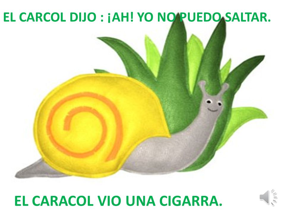 EL CARACOL VIO UNA CIGARRA.