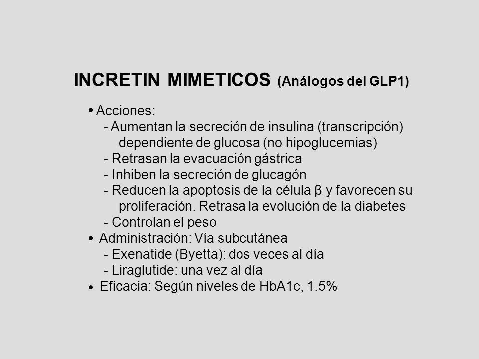 INCRETIN MIMETICOS (Análogos del GLP1)