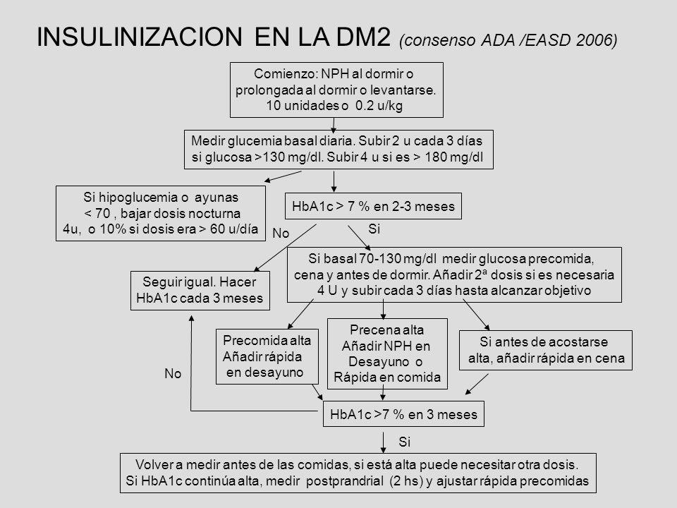 INSULINIZACION EN LA DM2 (consenso ADA /EASD 2006)