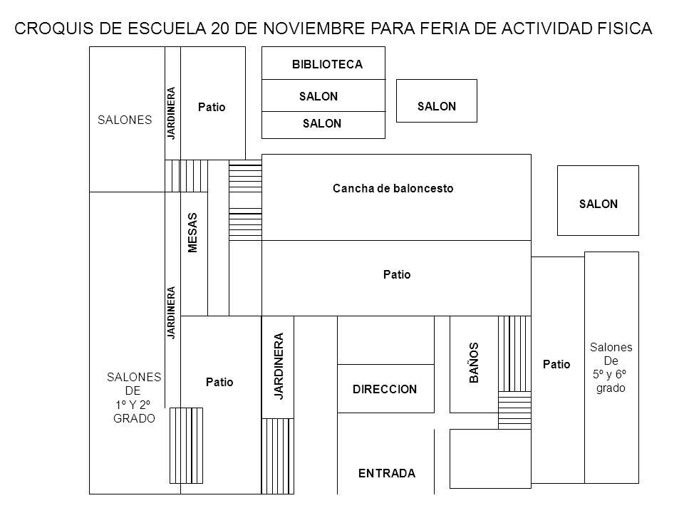CROQUIS DE ESCUELA 20 DE NOVIEMBRE PARA FERIA DE ACTIVIDAD FISICA