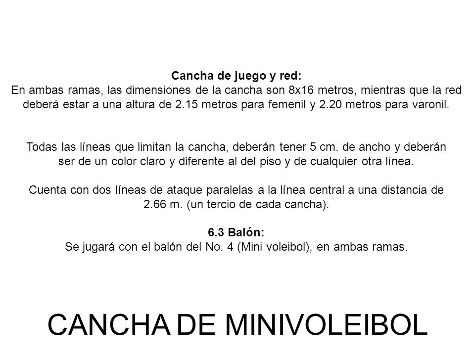 CANCHA DE MINIVOLEIBOL