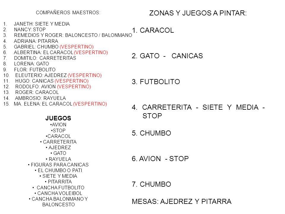 ZONAS Y JUEGOS A PINTAR: 1. CARACOL