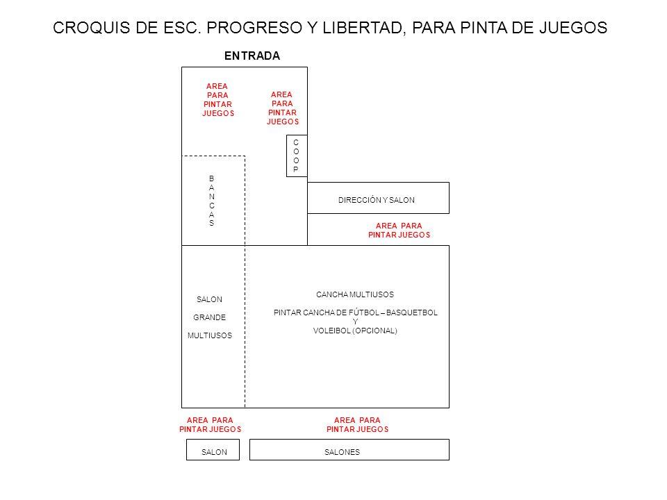 CROQUIS DE ESC. PROGRESO Y LIBERTAD, PARA PINTA DE JUEGOS