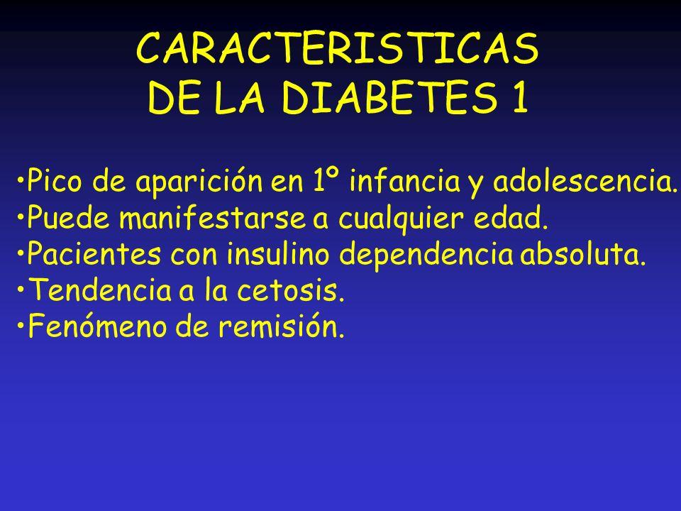 CARACTERISTICAS DE LA DIABETES 1