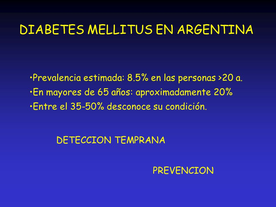 DIABETES MELLITUS EN ARGENTINA