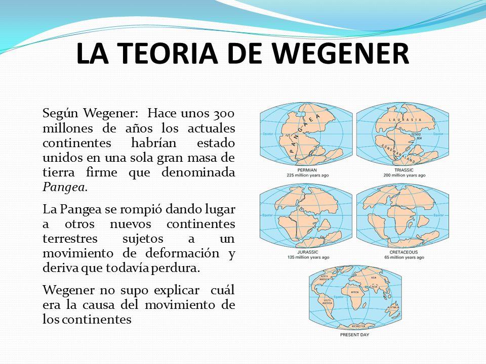 LA TEORIA DE WEGENER