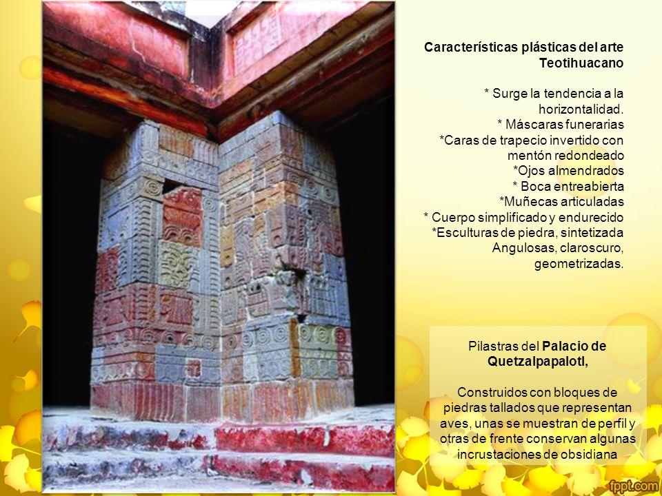 Pilastras del Palacio de Quetzalpapalotl,