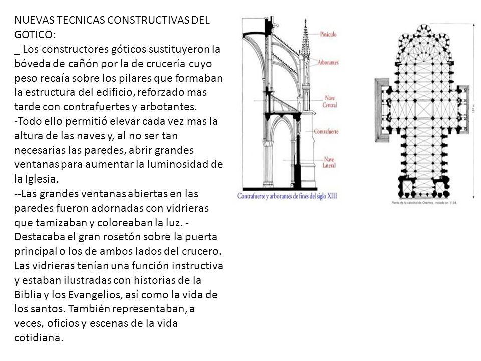 NUEVAS TECNICAS CONSTRUCTIVAS DEL GOTICO: