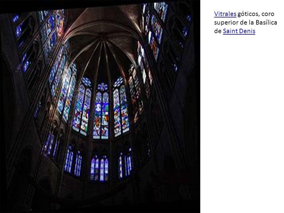 Vitrales góticos, coro superior de la Basílica de Saint Denis