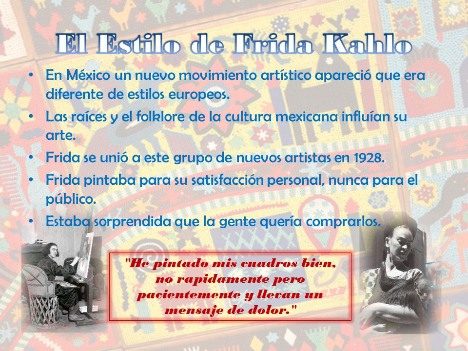 El Estilo de Frida Kahlo