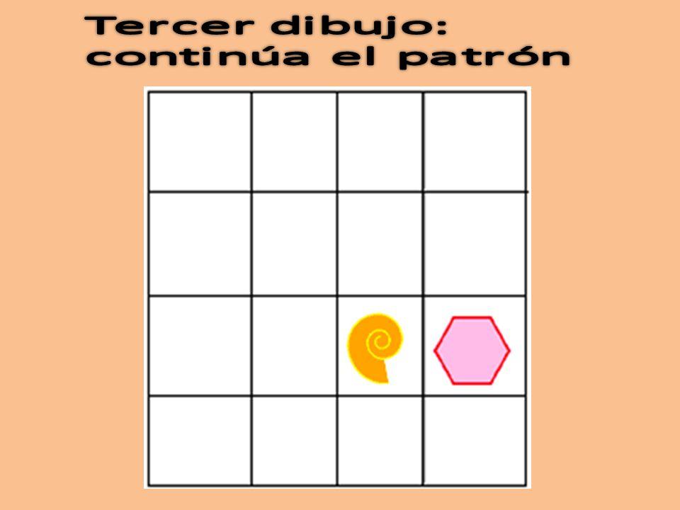 Tercer dibujo: continúa el patrón