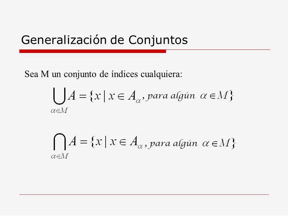 Generalización de Conjuntos