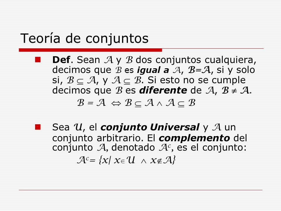 Teoría de conjuntos