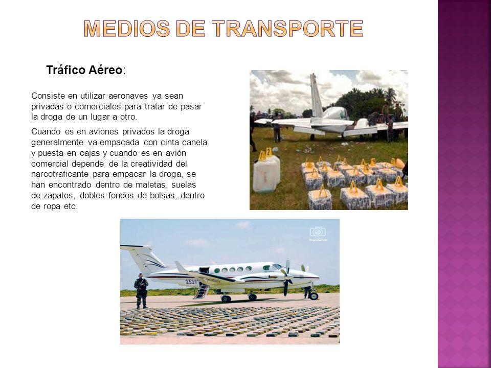 Medios de transporte Tráfico Aéreo: