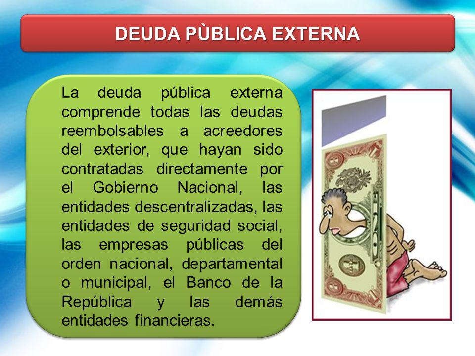 DEUDA PÙBLICA EXTERNA