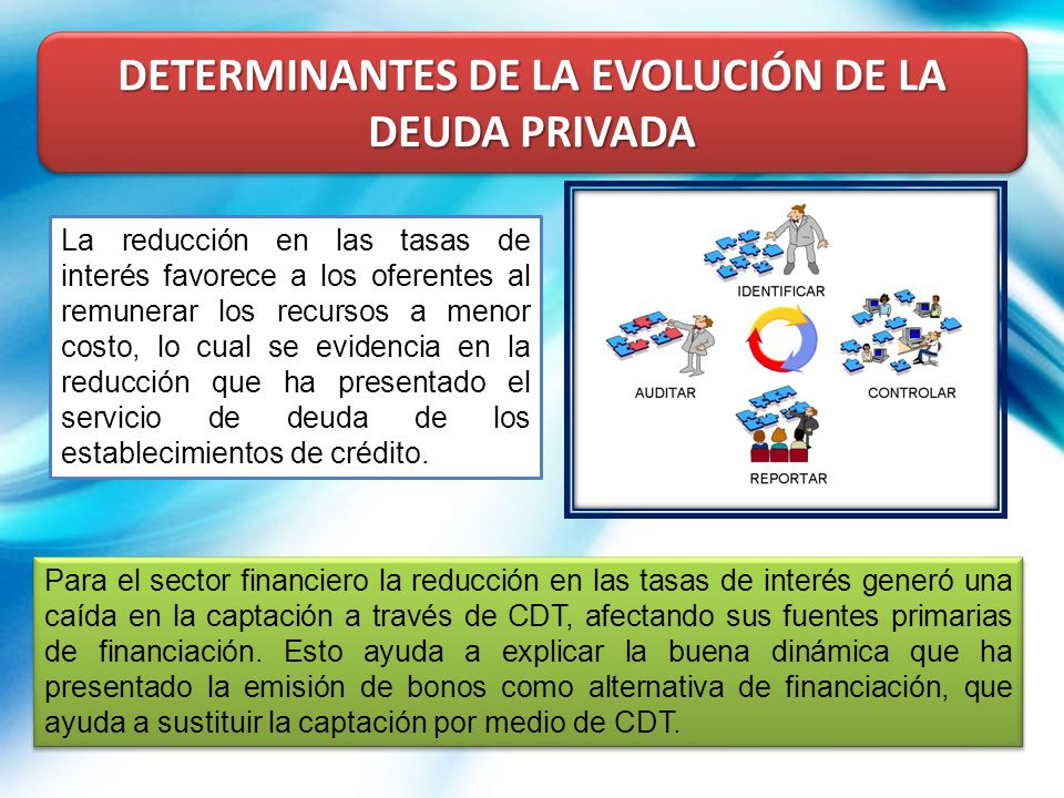 DETERMINANTES DE LA EVOLUCIÓN DE LA DEUDA PRIVADA