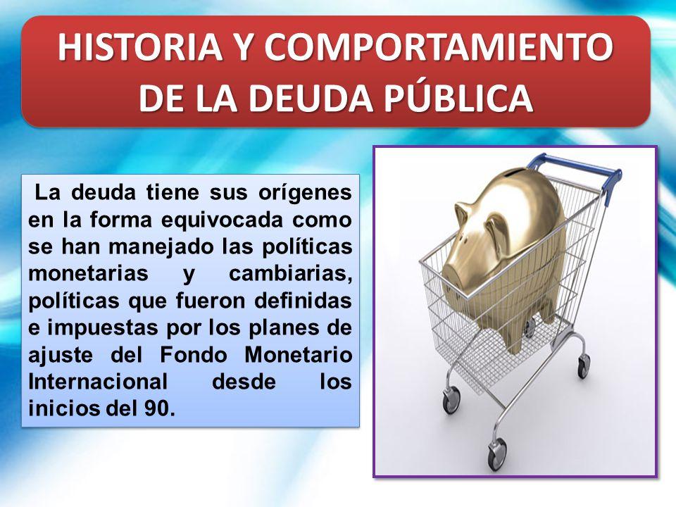 HISTORIA Y COMPORTAMIENTO DE LA DEUDA PÚBLICA