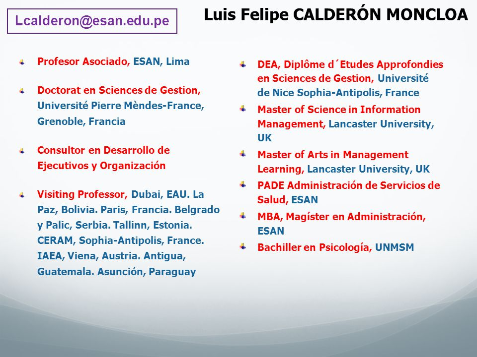 Luis Felipe CALDERÓN MONCLOA