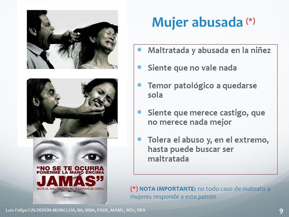 Mujer abusada (*) Maltratada y abusada en la niñez