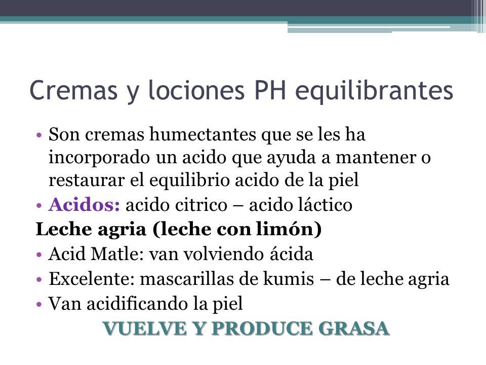 Cremas y lociones PH equilibrantes