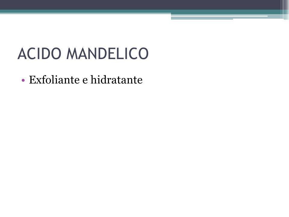 ACIDO MANDELICO Exfoliante e hidratante