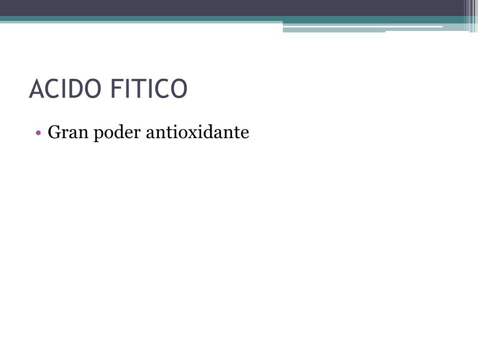 ACIDO FITICO Gran poder antioxidante