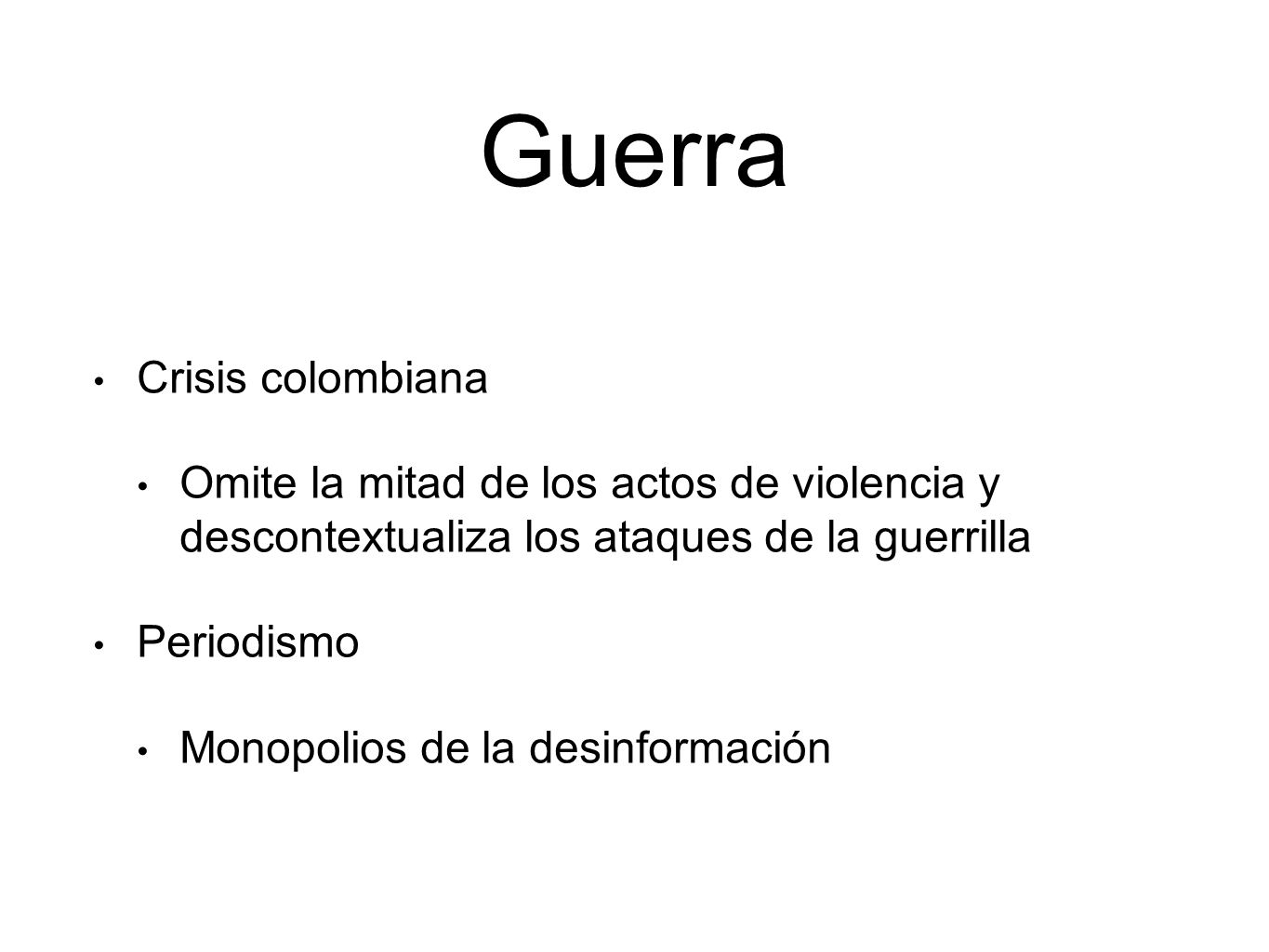 Guerra Crisis colombiana