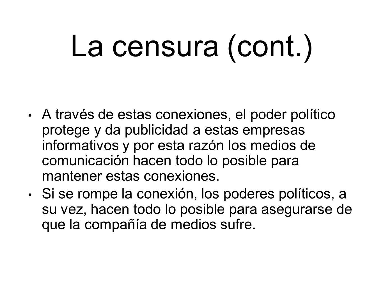 La censura (cont.)