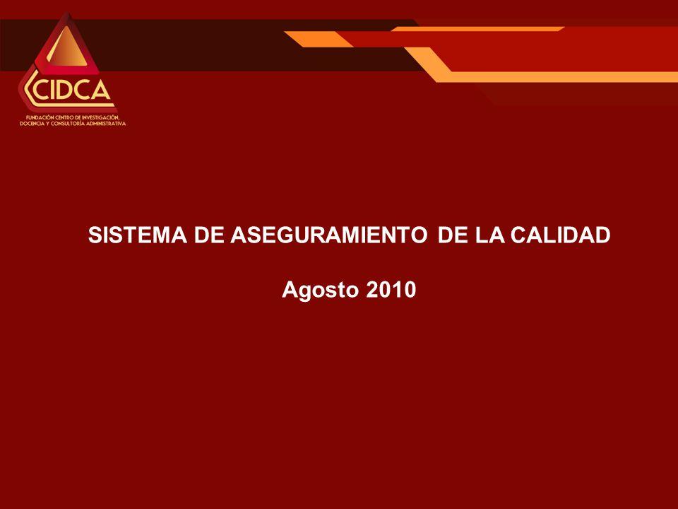 SISTEMA DE ASEGURAMIENTO DE LA CALIDAD