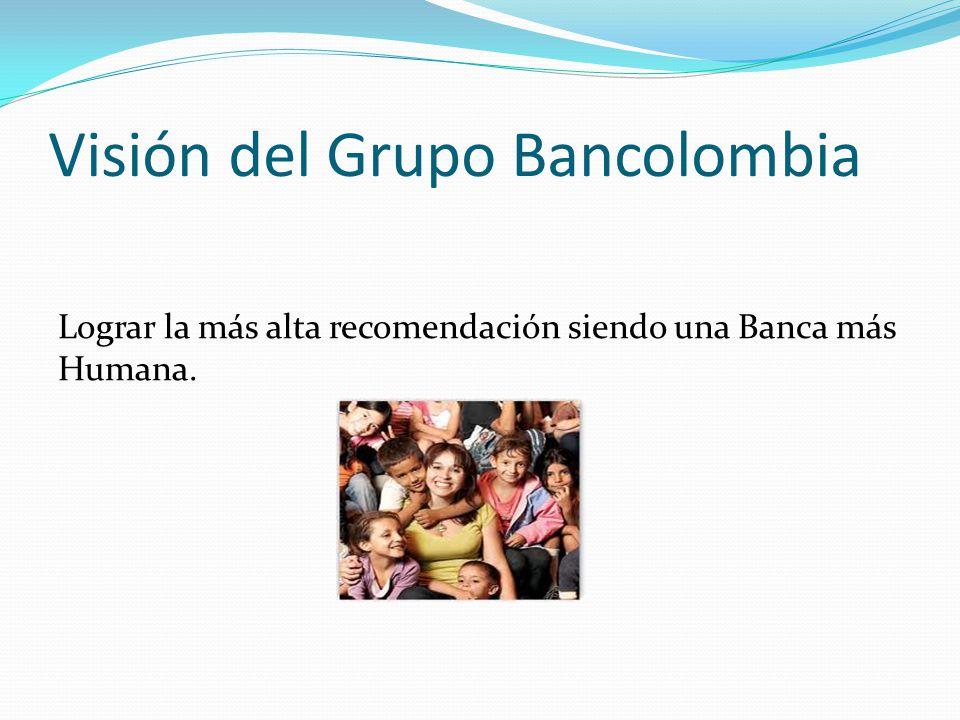 Visión del Grupo Bancolombia