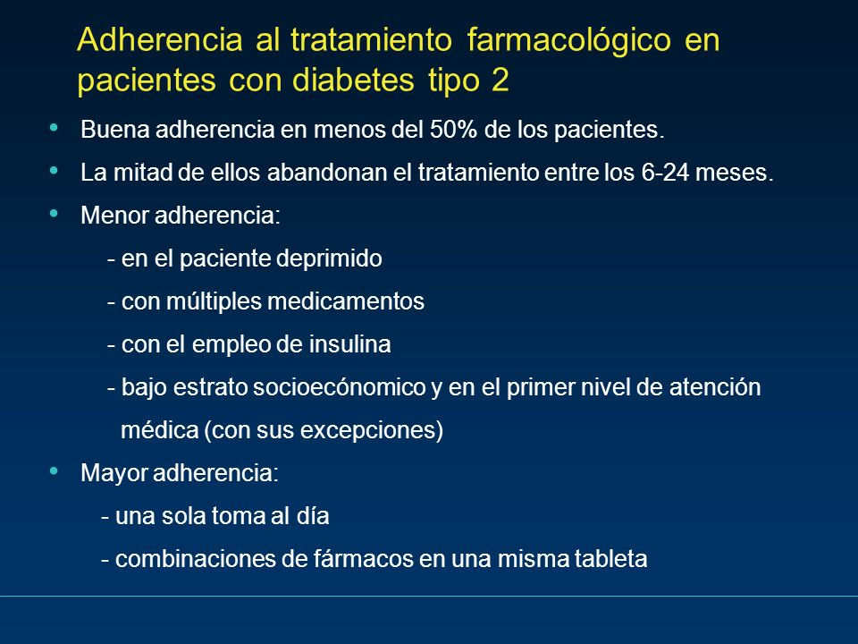 Adherencia al tratamiento farmacológico en pacientes con diabetes tipo 2