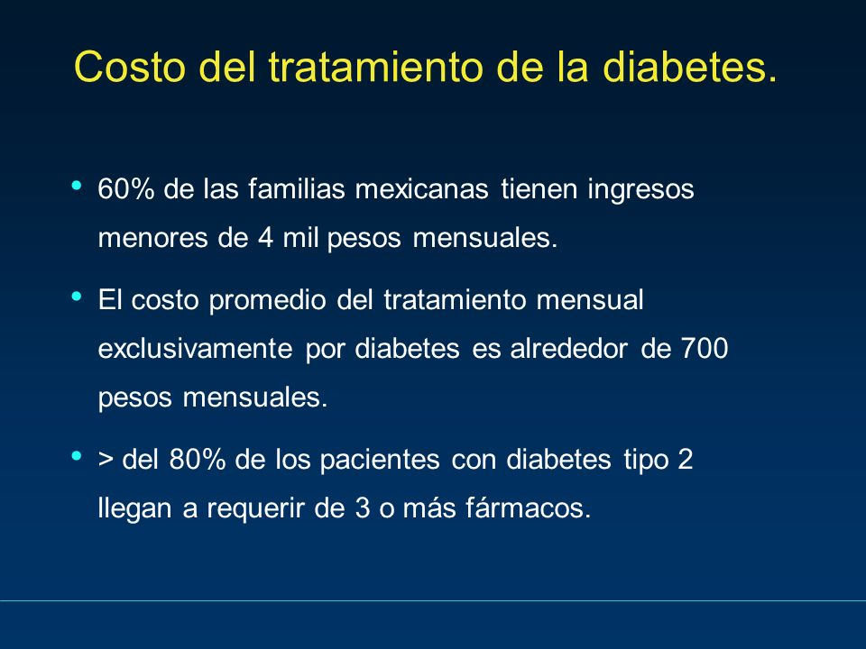 Costo del tratamiento de la diabetes.
