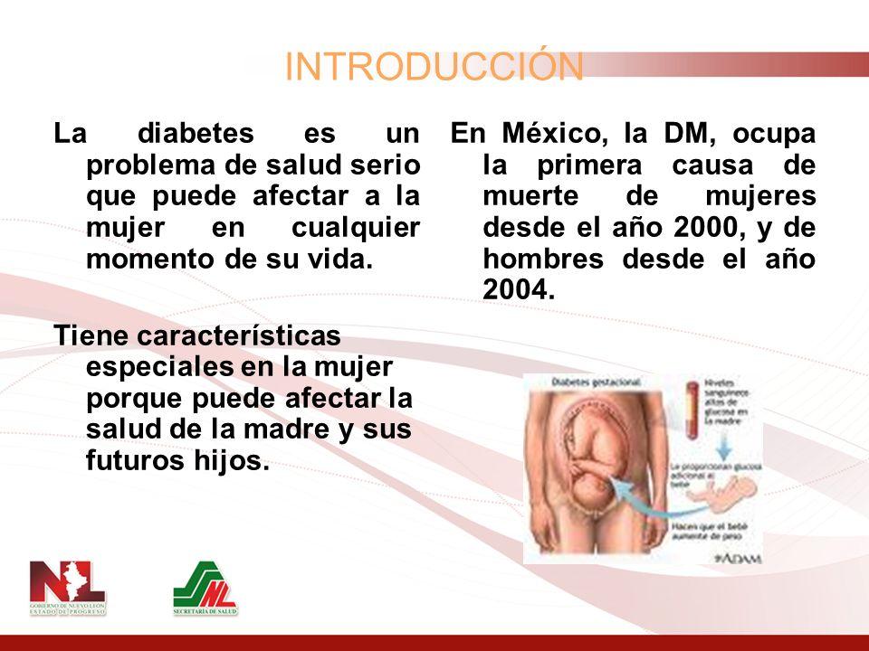 INTRODUCCIÓNLa diabetes es un problema de salud serio que puede afectar a la mujer en cualquier momento de su vida.