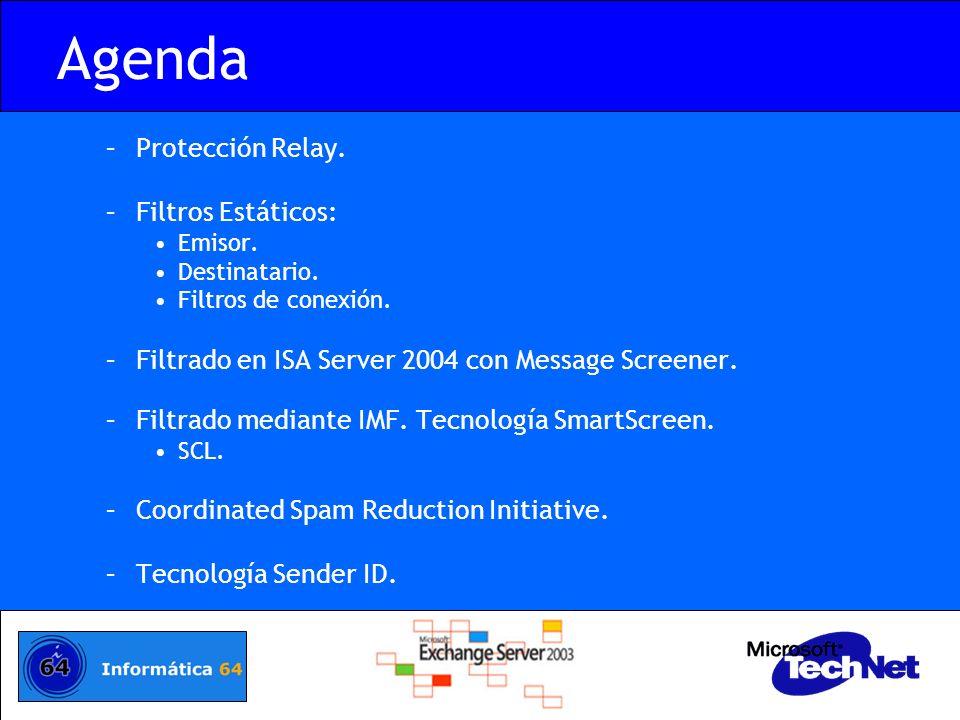 Agenda Protección Relay. Filtros Estáticos: