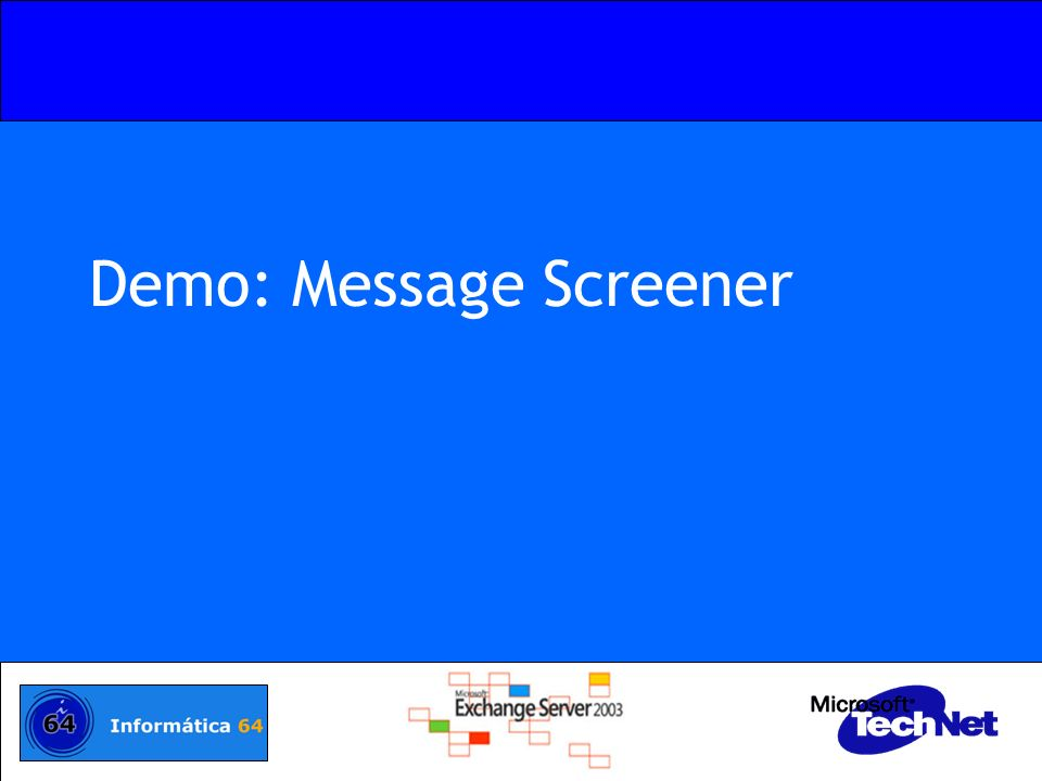 Demo: Message Screener