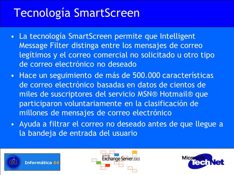 Tecnología SmartScreen