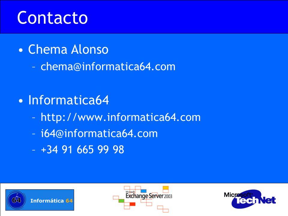 Contacto Chema Alonso Informatica64 chema@informatica64.com