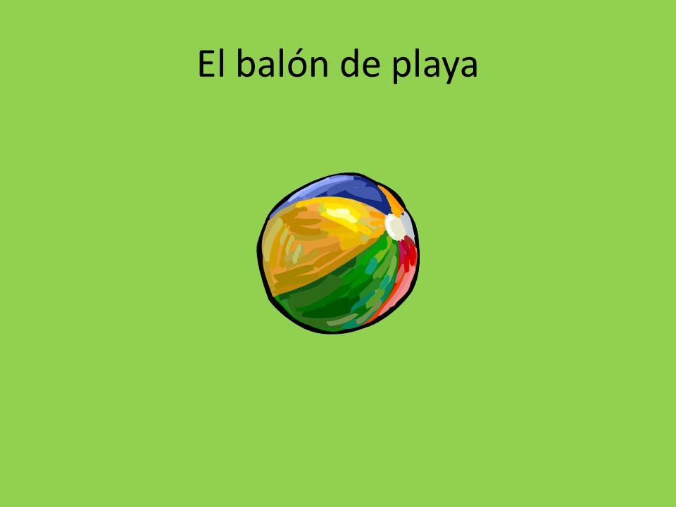 El balón de playa