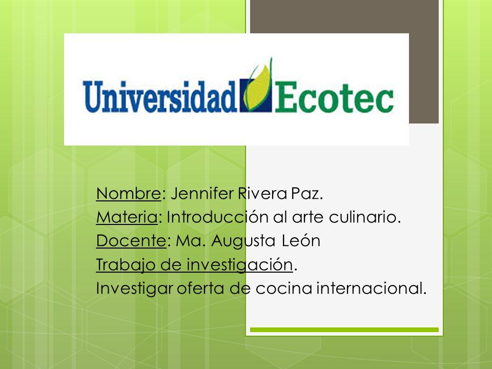 Nombre: Jennifer Rivera Paz.