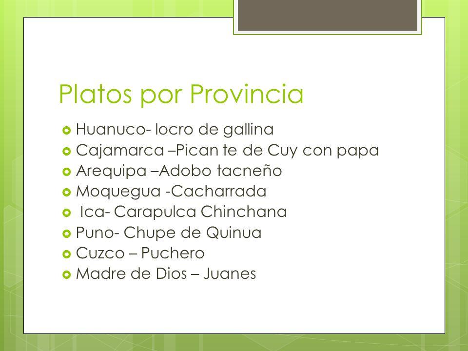 Platos por Provincia Huanuco- locro de gallina