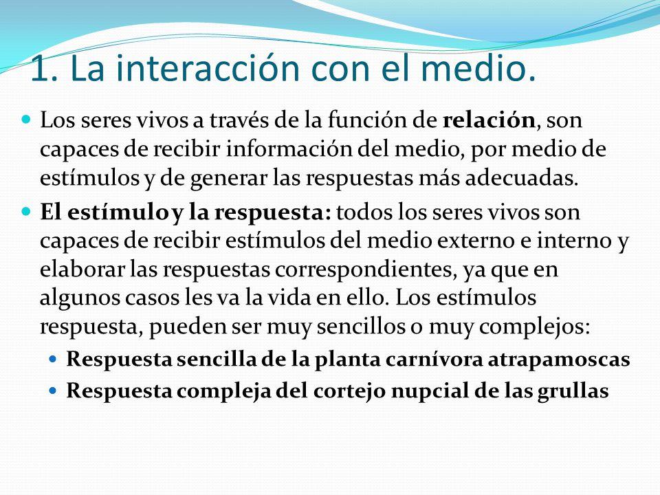 1. La interacción con el medio.