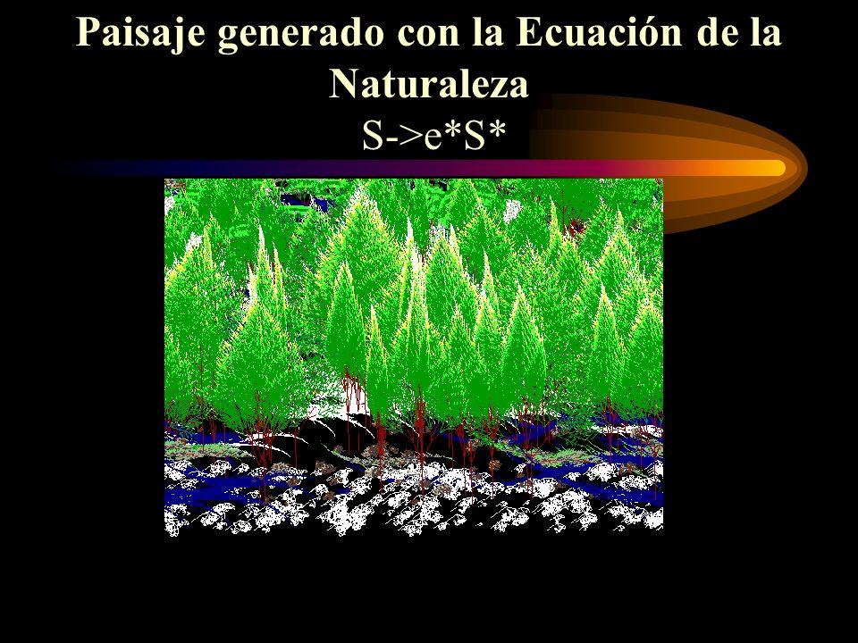 Paisaje generado con la Ecuación de la Naturaleza