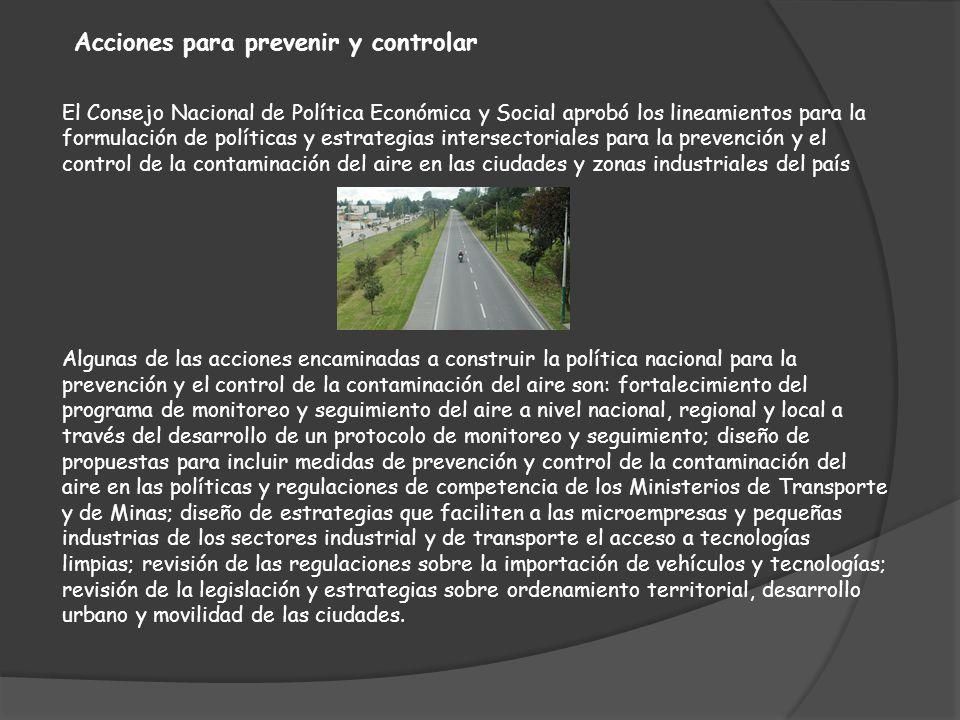 Acciones para prevenir y controlar