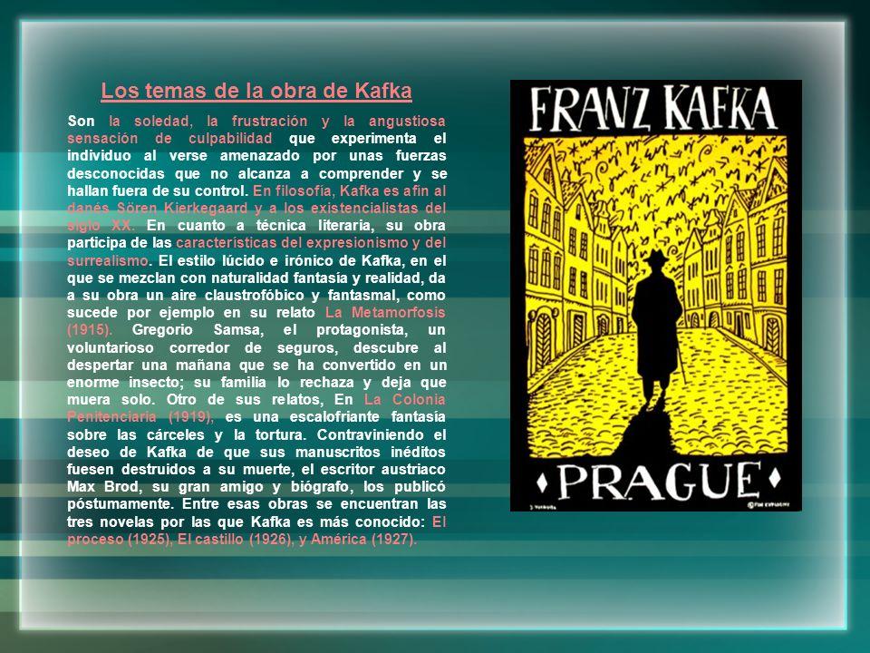 Los temas de la obra de Kafka