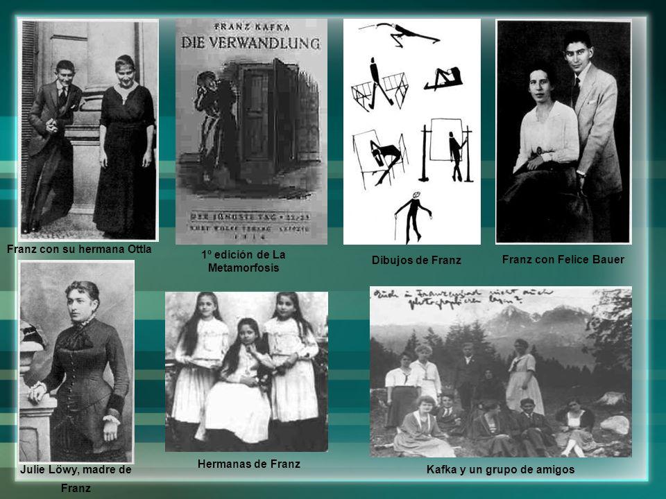 Franz con su hermana Ottla 1º edición de La Metamorfosis