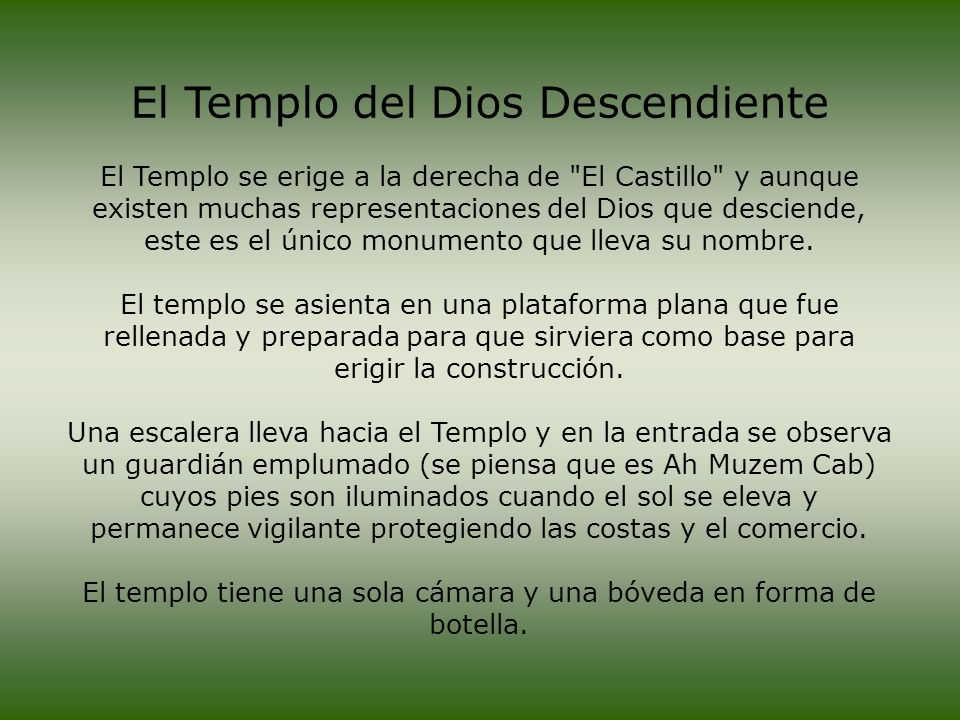 El Templo del Dios Descendiente