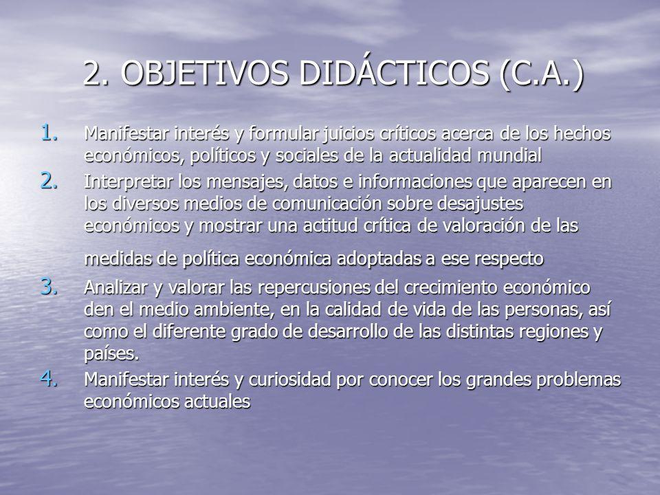 2. OBJETIVOS DIDÁCTICOS (C.A.)