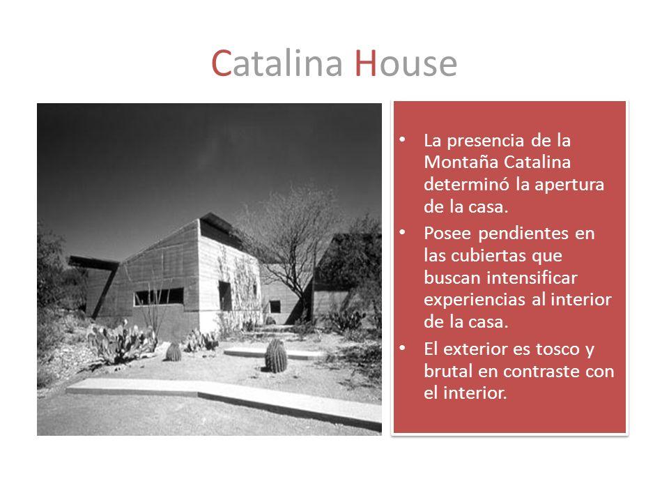 Catalina House La presencia de la Montaña Catalina determinó la apertura de la casa.